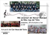 Cartel actuación en Mercado Municipal de Riba-roja de Túria